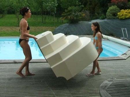 Escalier sur liner piscine athena accelo distripool for Liner de piscine pas cher