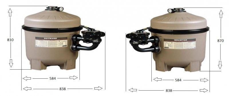 Filtre a diatomee hayward pro grid vanne 6 voies side 1 for Diatomee piscine