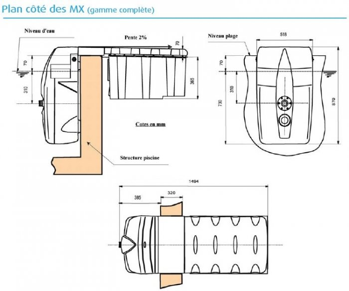 Groupe filtration filtrinov mx 18 distripool for Groupe de filtration piscine