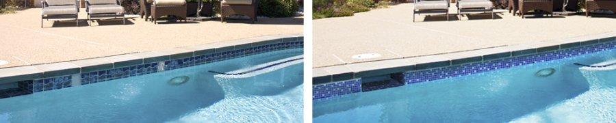 Frise piscine auto collante saphir 24 cm x 5 m Prix frise piscine