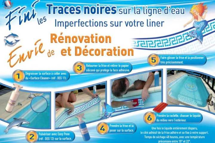 Frise piscine auto collante saphir for Frise pour piscine beton