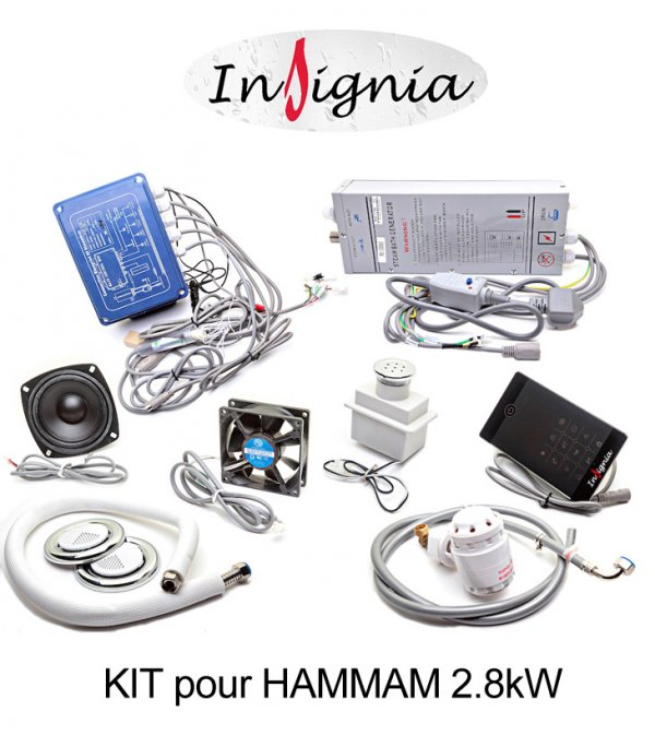 kit complet pour hammam insignia 2 8 kw insignia. Black Bedroom Furniture Sets. Home Design Ideas