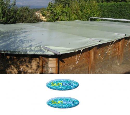 B che barres piscine bois sunbay distripool for Bache piscine sunbay