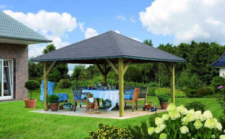 Tonnelle de jardin en bois holm 1 karibu - Tonnelle en bois de jardin ...
