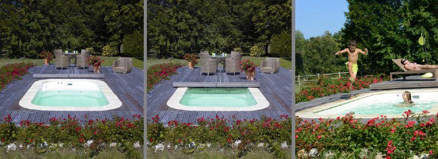 Mini piscine blue vision distripool for Mini piscina