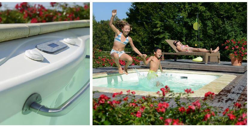 Mini piscine blue vision distripool - Mini piscine beton ...