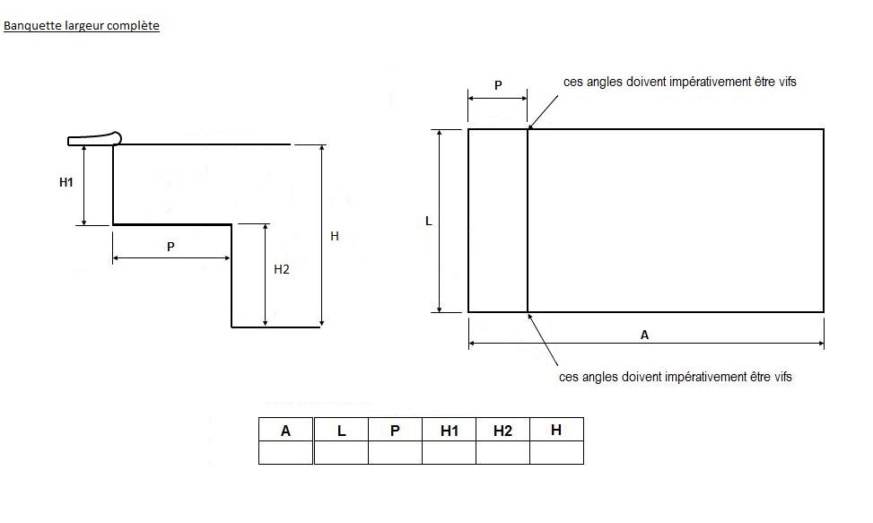 forfait liner marche banquette distripool. Black Bedroom Furniture Sets. Home Design Ideas