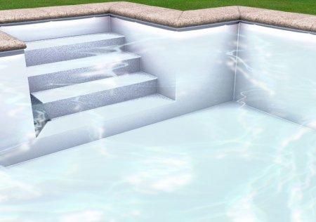 Liner piscine 75 100 me blanc for Liner piscine blanc