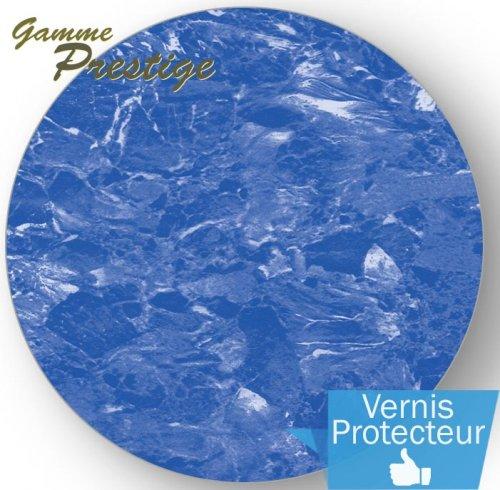 Liner piscine 75 100 me imprim 2015 marbr bleu vernis for Liner 75 100 sur mesure