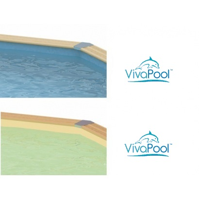 Liner piscine bois vivapool distripool for Liner piscine hexagonale bois