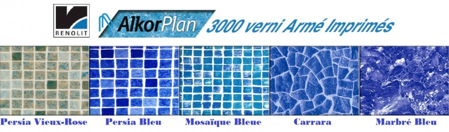 Liner arm verni imprim alkorplan 3000 distripool for Acheter liner piscine