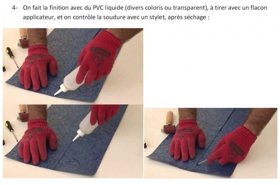 Kit flacon applicateur pour pvc liquide for Prix membrane pvc arme pour piscine