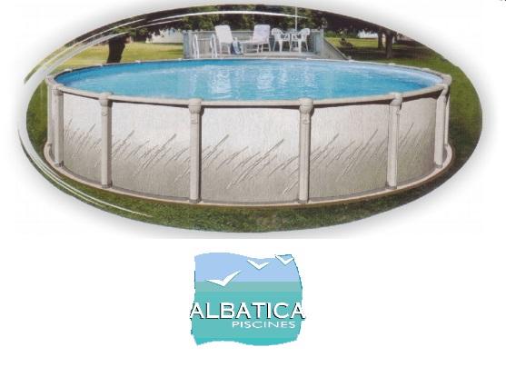 Liner piscine hors sol compatible albatica distripool for Liner piscine ronde 5 50