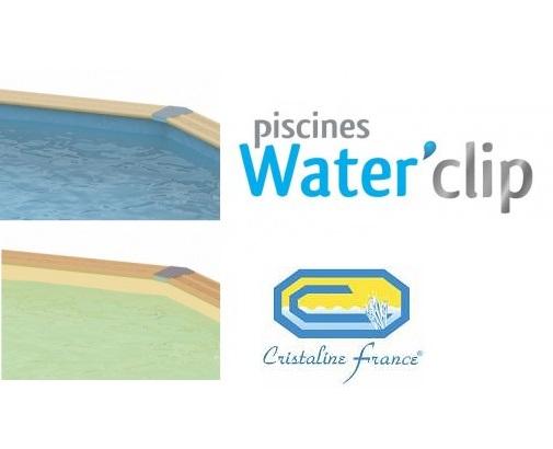 Liner piscine bois waterclip cristaline distripool for Piscine cristaline
