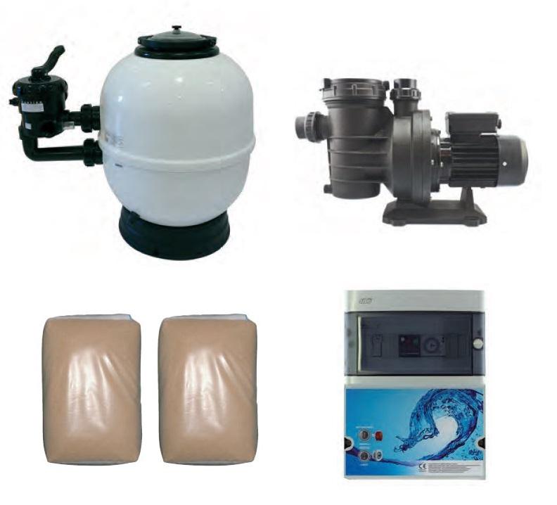 Kit filtration piscine premium distripool for Kit filtration piscine a debordement