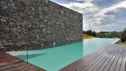 Peinture piscine distripool - Photo piscine liner gris ...