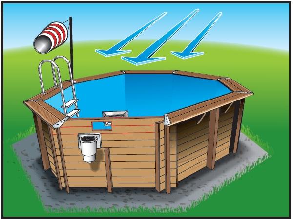 Piscine en bois kit piscine bois prix discount for Construction piscine hors sol bois