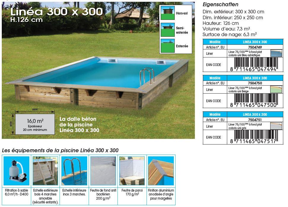 Mini piscine en bois distripool for Piscine bois linea