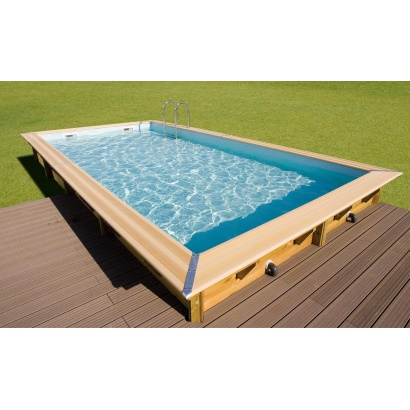 Piscine bois lin a rectangulaire distripool for Montage piscine bois