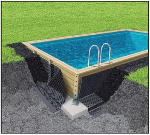 Piscine en bois kit piscine bois prix discount for Piscine semi enterree bois hexagonale