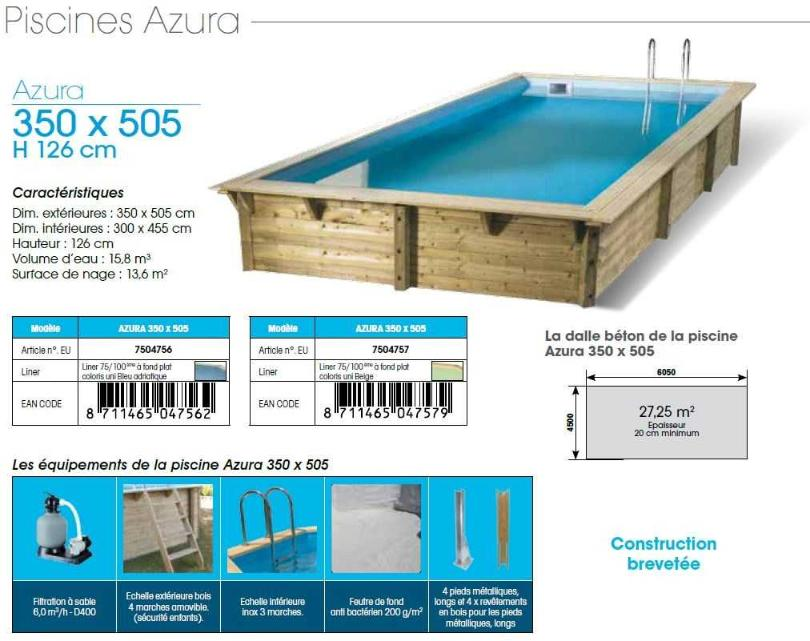 Piscine bois discount destockage petite piscine bois for Coque piscine destockage