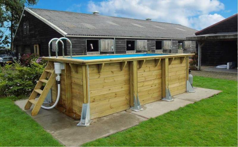 piscine en bois urban pool 250 x 450 x 140 cm. Black Bedroom Furniture Sets. Home Design Ideas