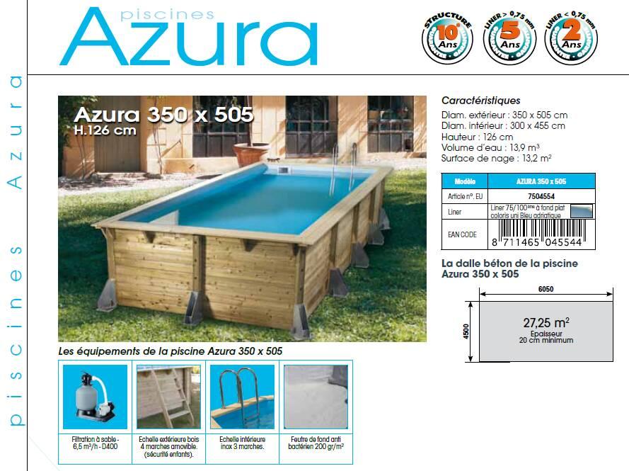 Piscine bois azura for Piscine bois rectangulaire 4x2