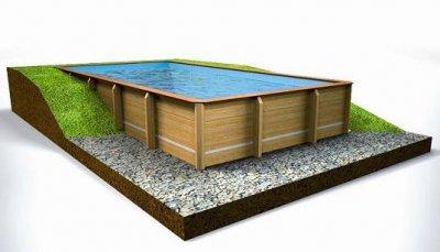 Piscinas elevadas a bajo precio de acero o madera - Piscinas de madera semienterradas ...