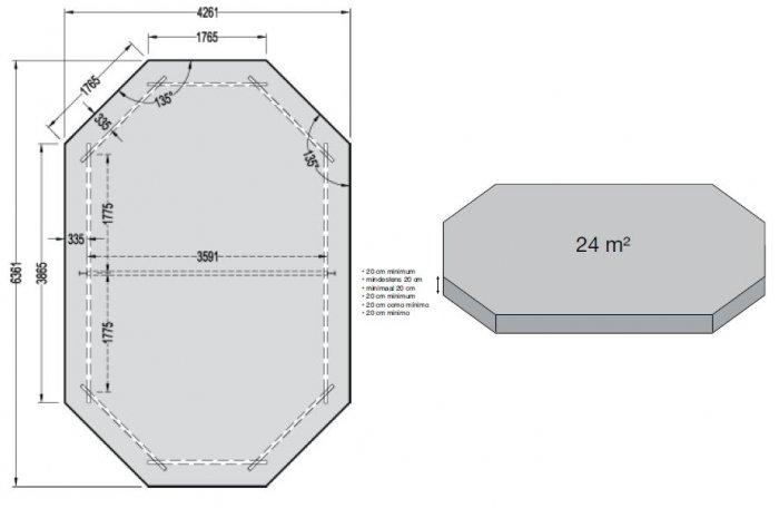 piscine en bois nortland 400 x 610 x 130 cm. Black Bedroom Furniture Sets. Home Design Ideas