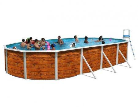 Jolie piscine ovale en bois prix for Prix piscine 7x4