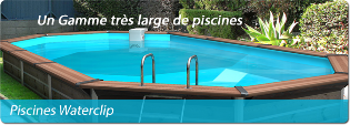 Piscine en bois waterclip octogonale distripool for Piscine waterclip
