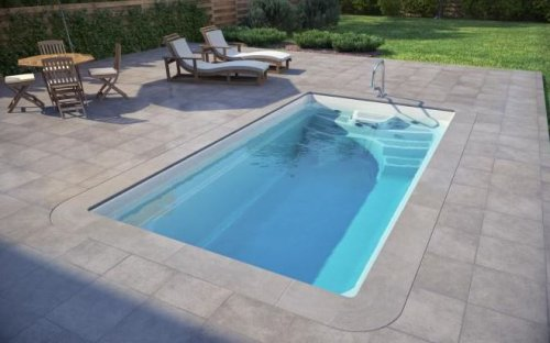 piscine en coque boston   500 cm x 265 cm x 140 cm