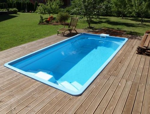 Piscine en coque boston 500 cm x 265 cm x 140 cm for Kit piscine coque