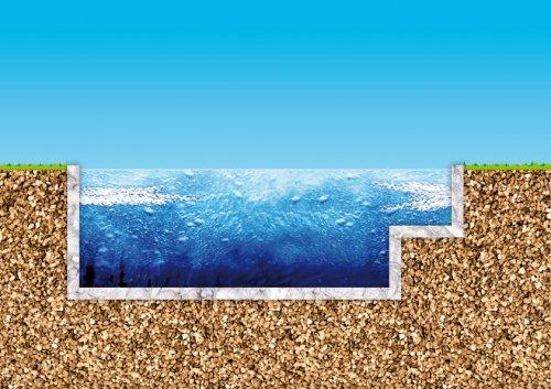 Piscine en kit construction traditionnelle beton baln o et for Plan piscine beton