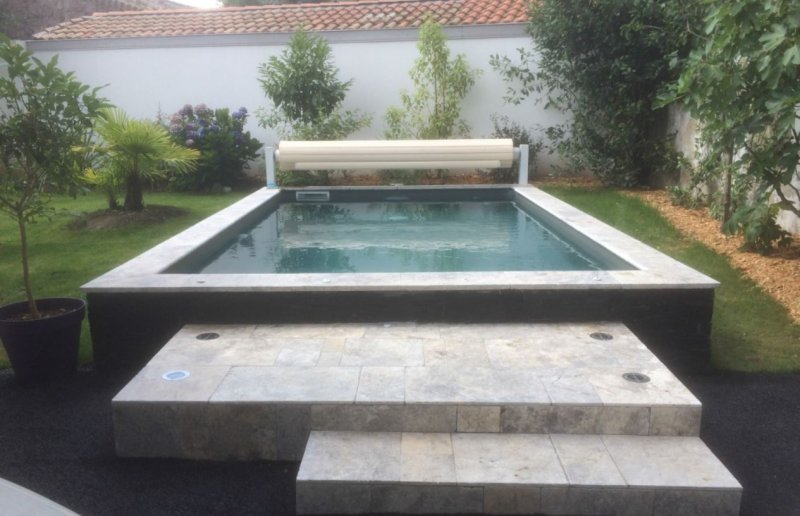 Spa de nage b ton nage contre courant distripool for Liner piscine 3 50 x1 20