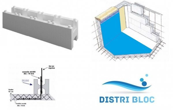 Piscine en kit polystyr ne luxe rectangulaire distripool for Bloc polystyrene piscine