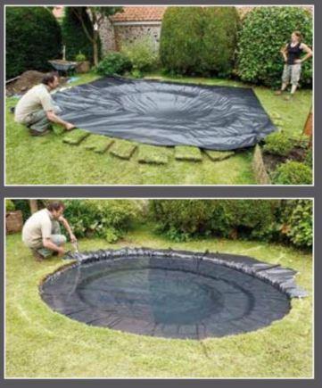 kit de 150 m piscine avec plage en caoutchouc. Black Bedroom Furniture Sets. Home Design Ideas