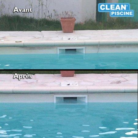 entretien ligne eau clean piscine