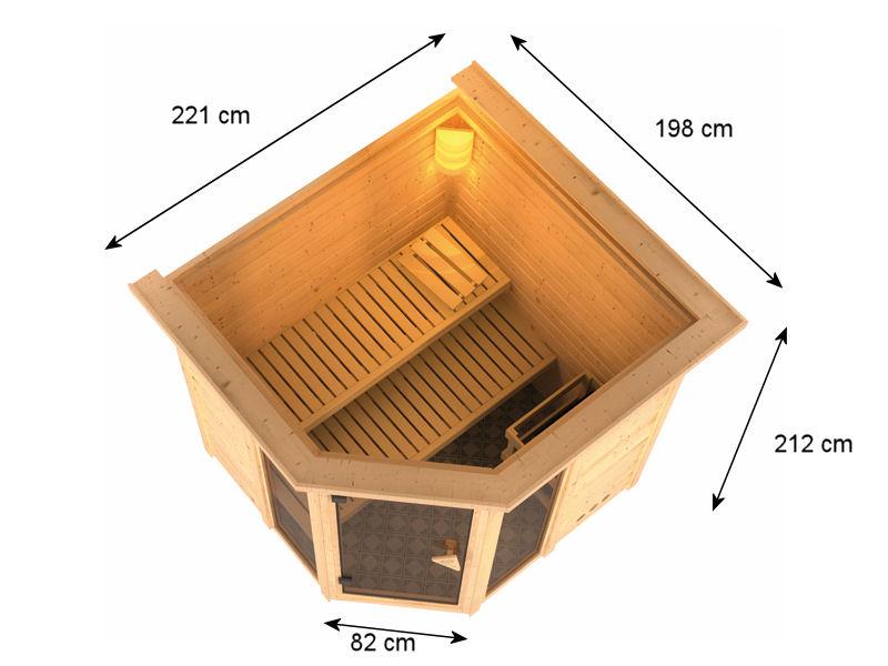Sauna bois massif 40 mm sinai 2 - Plan sauna finlandais ...