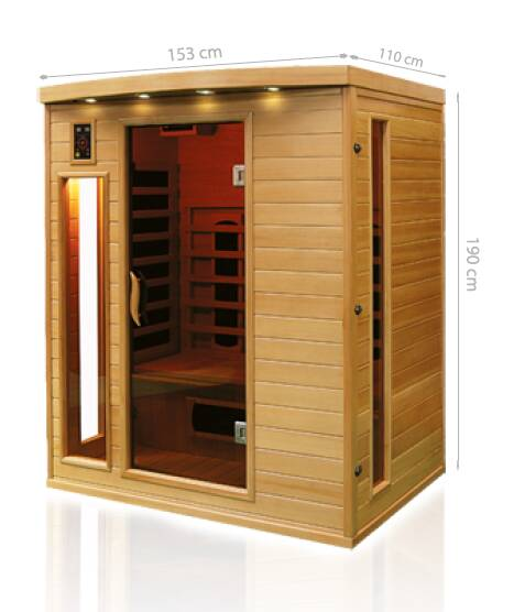 dimensions sauna infrarougea apollon 3
