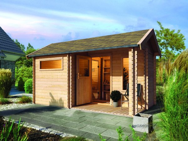 Sauna ext rieur 38 mm chalet 4 karibu for Sauna infrarouge exterieur