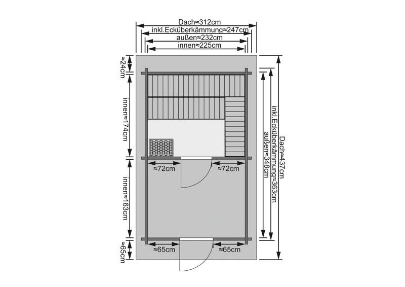 Sauna ext rieur 38 mm chalet 3 karibu for Sauna d exterieur