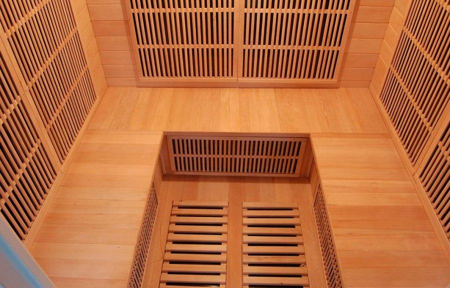 sauna infrarouge soleil blanc 4s de 5 places france sauna. Black Bedroom Furniture Sets. Home Design Ideas