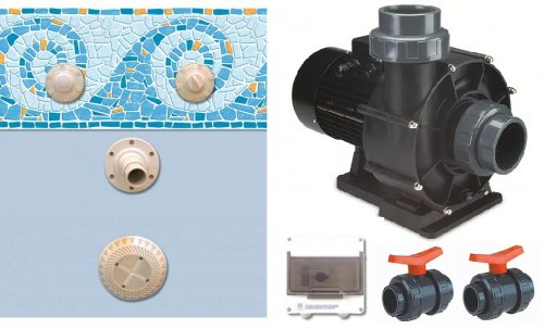 Kit de nage contre courant baln a 50 m3 h distripool for Piscine contre courant