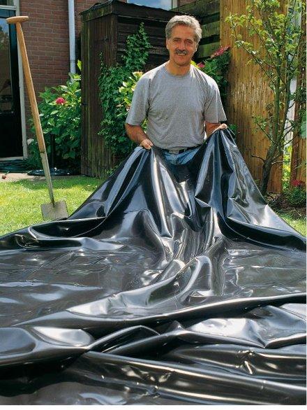 B che pour bassin jardin aqualiner 6 x 8 m ubbink for Bache pour bassin auchan