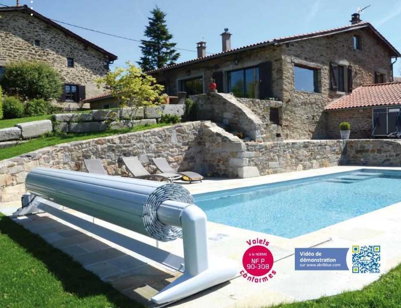 Volet automatique piscine syst me surf 2 abriblue for Rideau piscine